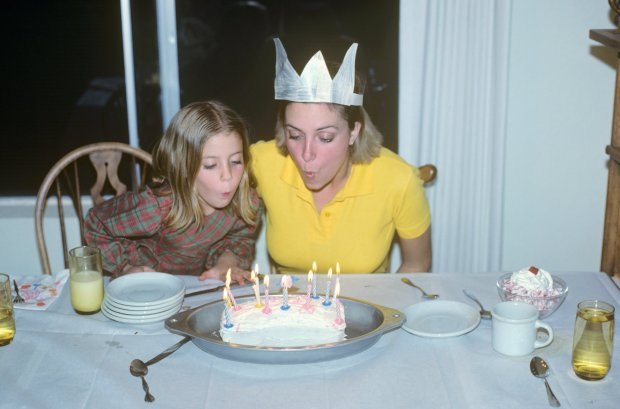 I must have been the birthday girl since I have the crown on!  Make a wish!