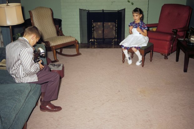 brother Joe with his new Brownie camera