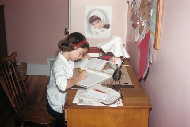 Jan studying