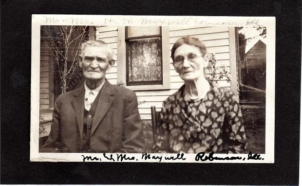 Mr. and Mrs. Maxwell, Robinson, Illinois  Photo taken 1932