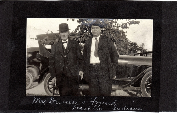 Mr. Deweese and friend, Franklin, Indiana, abt. 1912.