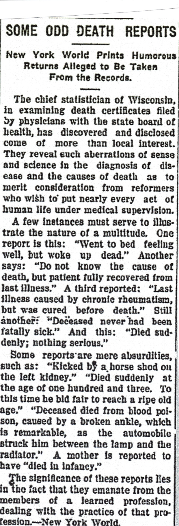 Date:  Thursday, April 2, 1914  Paper: New York World (New York, NY)