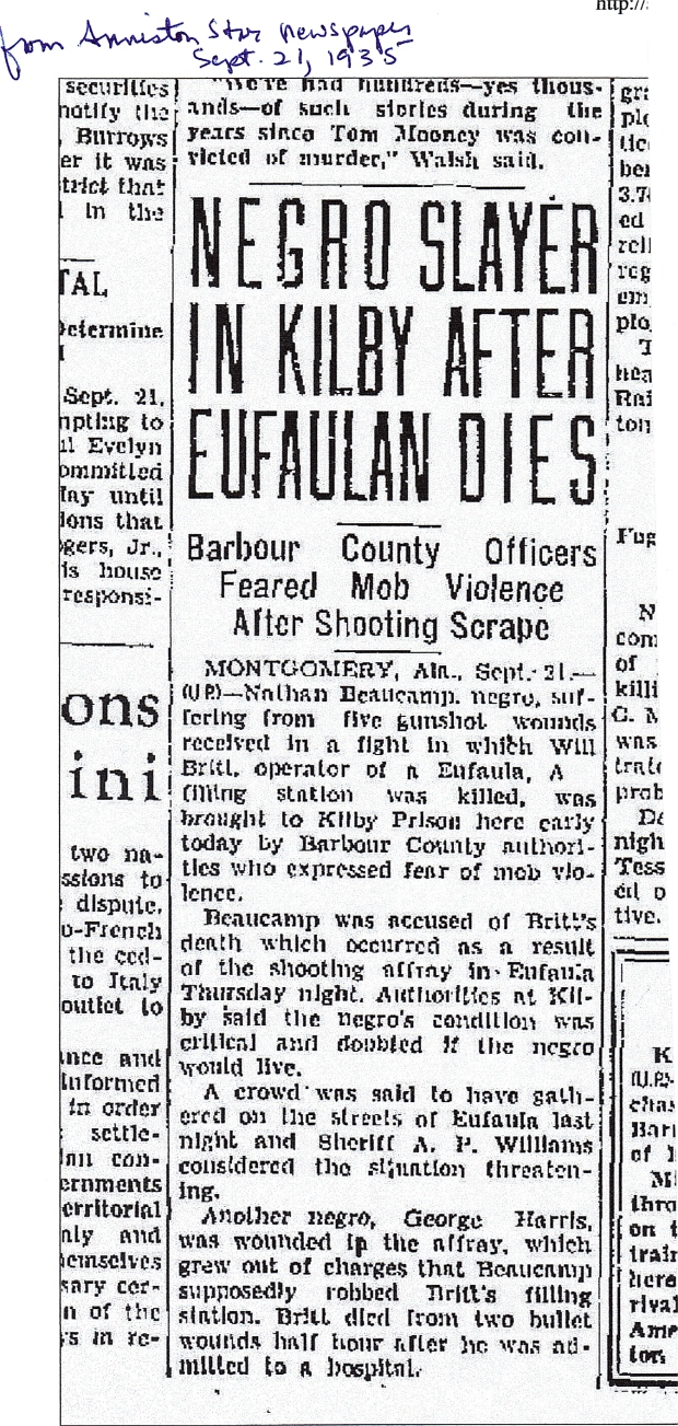Date: Sept. 21, 1935  Newspaper: Anniston Star, Anniston, Alabama