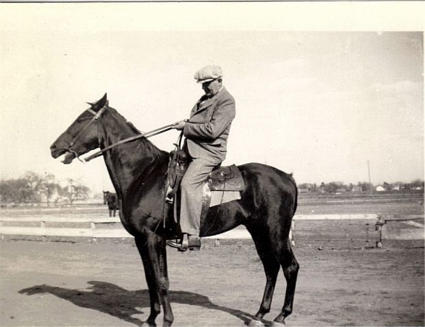 Forrest A. Kelley and his Horse