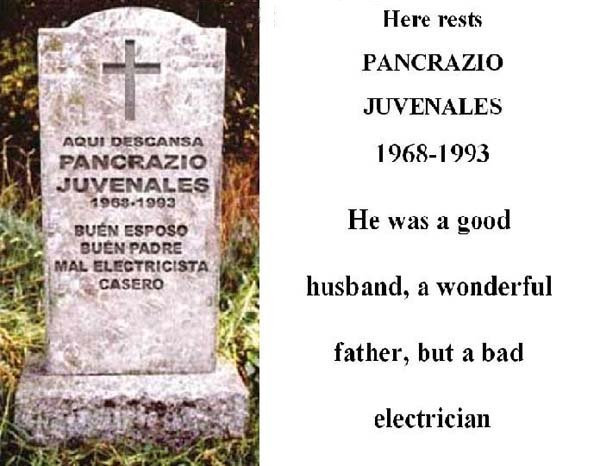 Grave stones in Mexico - Hilarious2