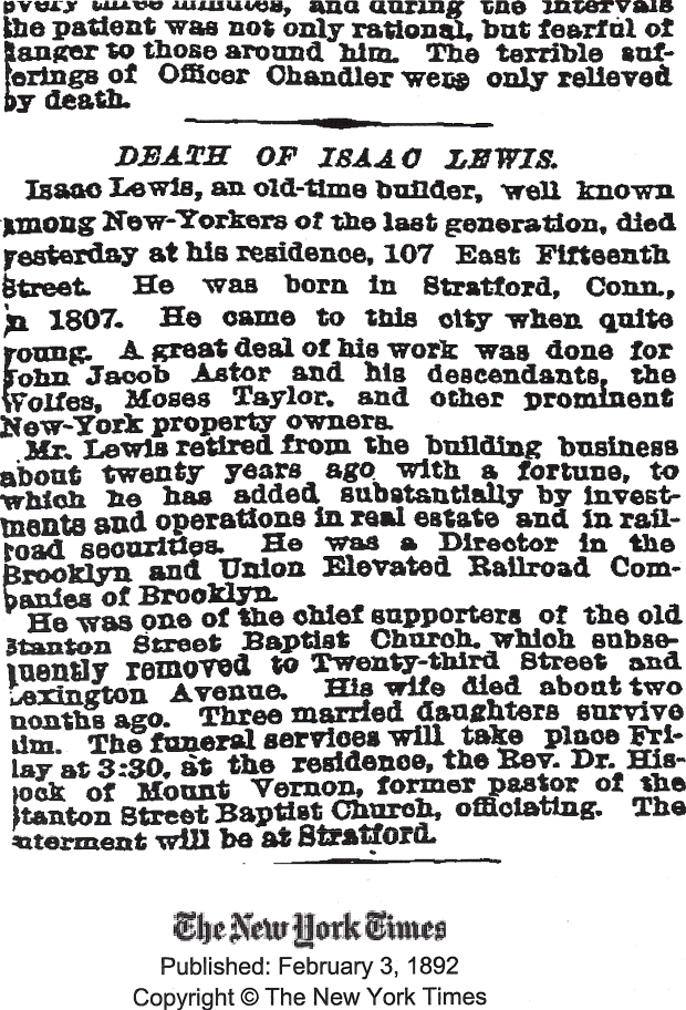 Obituary from The New York Times